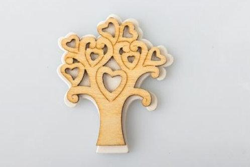 Applicazione legno cuori albero della vita