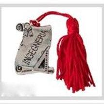 Pergamena ricordo Laurea in ingegneria completa di Nappina Rossa
