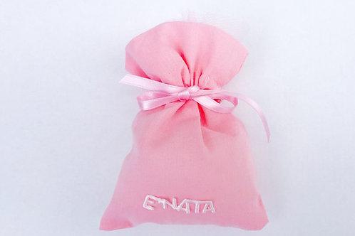 Sacchetto portaconfetti rosa è nata