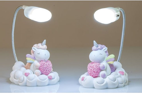 Unicorno rosa lampada led 2 assortiti bomboniere Nascita Battesimo