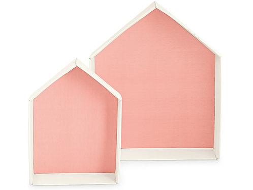 Vassoio porta sacchetti a forma di casa rosa