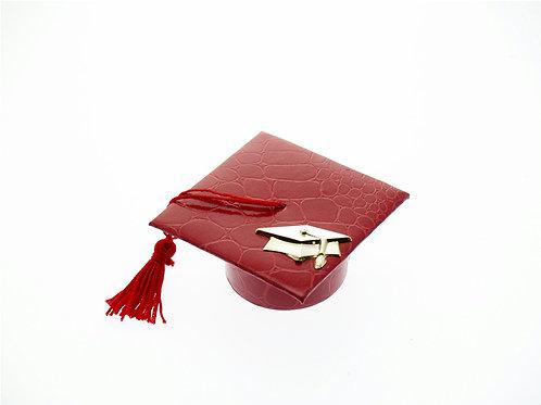 Cappello laurea (Tocco) rosso con applicazione oro