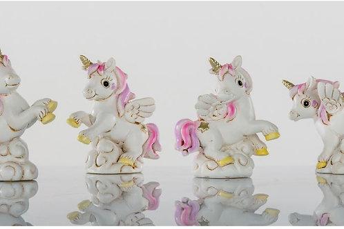 Unicorno mini rosa 4 assortiti bomboniere Nascita Battesimo