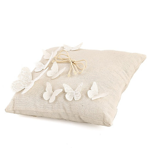Cuscino Portafedi con Farfalla