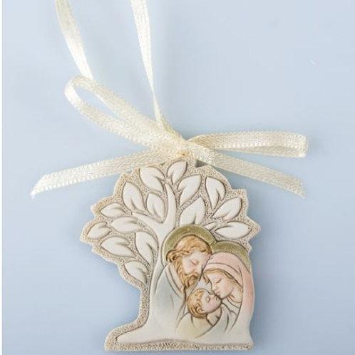Decorazione albero e sacra famiglia Bomboniere Nascita Battesimo
