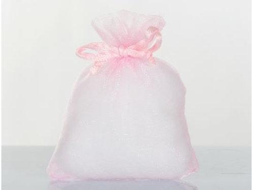 Sacchetto organza rosa