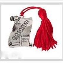 Pergamena ricordo Laurea in giurisprudenza completa di Nappina Rossa