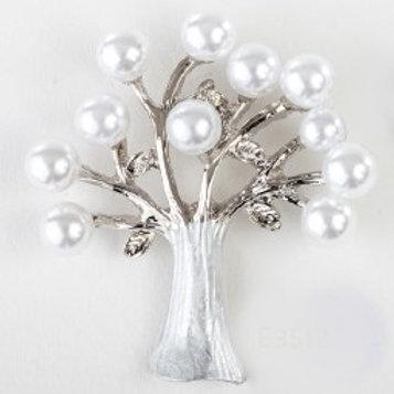 Charm pendente albero perle silver