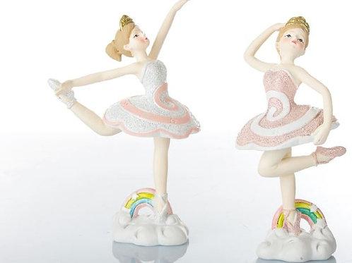 Ballerina h12 cm, 2 soggetti assortiti bomboniere Comunione Cresima