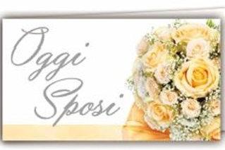 Biglietto matrimonio oggi sposi