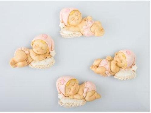 Neonato cuscino magnete femmina clip 4 assortiti bomboniere Nascita Battesimo