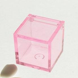 Scatolina plexiglass rosa 5x5x5 cm