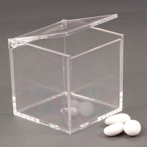 Scatolina plexiglass trasparente 8x8x8 cm