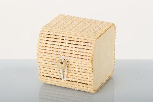 Scatola portaconfetti in bamboo Comunione Cresima 6x6x6
