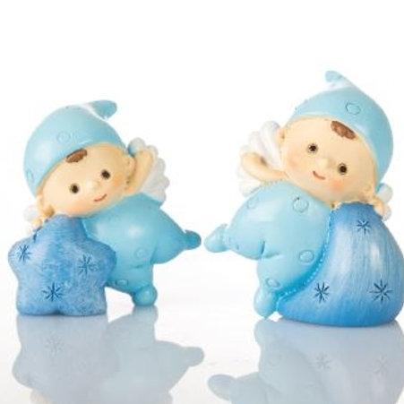 Baby Angelino blu mini 2 assortiti Bomboniere Nascita Battesimo