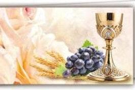 Biglietto cresima calice uva