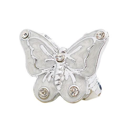 Farfalla argentata con Swarovsky