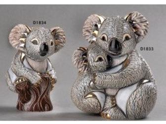 Koala mamma con cucciolo - De rosa collezione