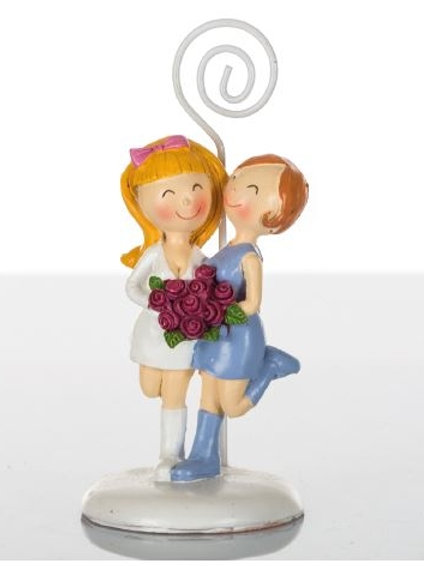Coppia ragazze memoclip bomboniere matrimonio
