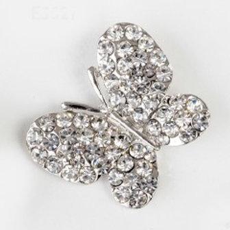 Charm pendente farfalla silver