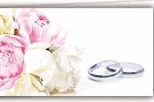 Biglietto matrimonio oro bianco
