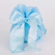 Sacchetto con fiocco Satin colore azzurro