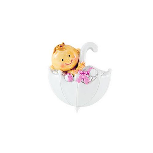 Magnete Baby dolce bimba su ombrellino