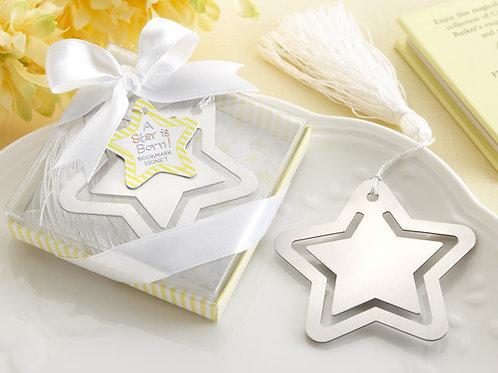 Segnalibro stella completo di scatolina e nappina