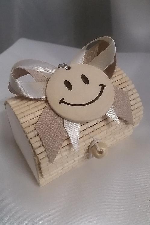 Scatola raffia smile
