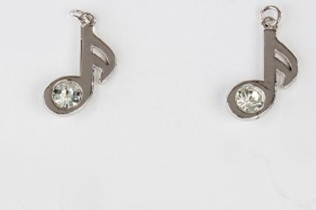 Charm pendente nota musicale silver