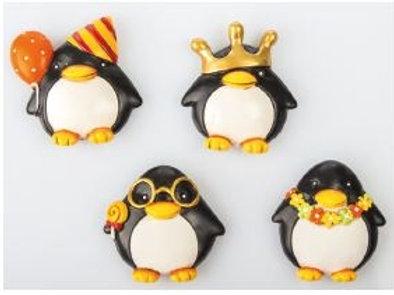 Pinguino magnete 4 assortiti bomboniere Nascita e Battesimo