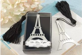 Segnalibro Torre Eiffel con nappina bianca e scatolina