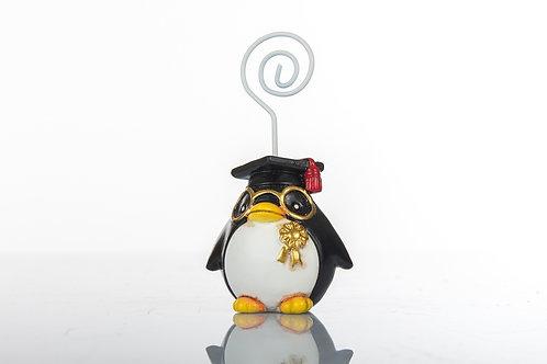 Pinguino laureato memoclip bomboniere Laurea