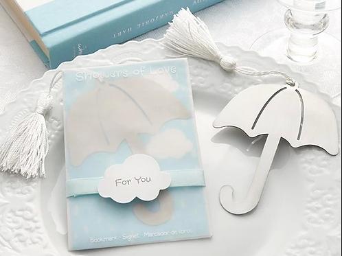 Segnalibro Umbrella con nappina bianca e scatolina
