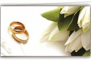 Biglietto matrimonio tulipani bianchi
