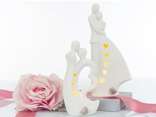 Sposi luce notturna cm.22 bomboniere matrimonio