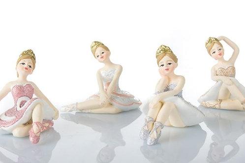 Ballerina seduta cm. 6x6, 4 soggetti assortiti bomboniere Comunione Cresima