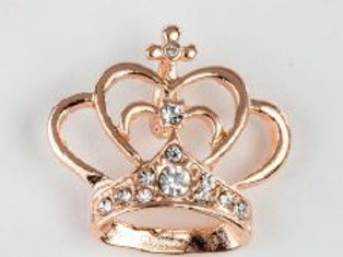 Charm pendente corona oro rosa