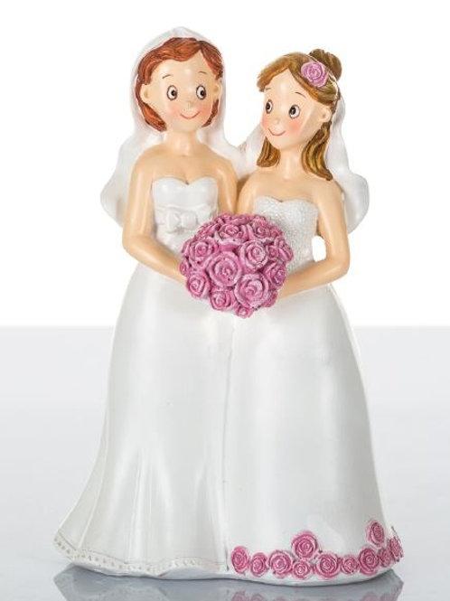 Coppia ragazze spose grandi
