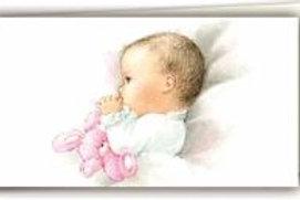 Biglietto neonato bimba