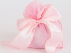 Sacchetto con fiocco Satin colore rosa