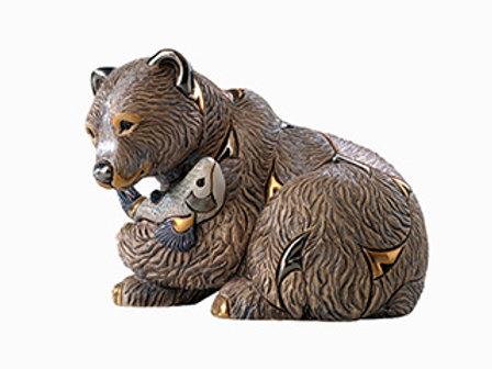 Orso Grizzly grande - De rosa collezione