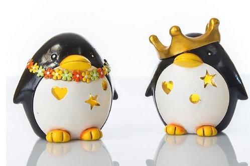 Pinguino luce led notturna 2 assortiti bomboniere Nascita Battesimo