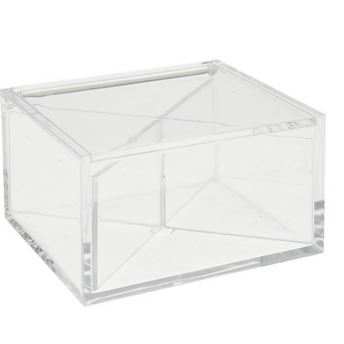 Scatolina plexiglass trasparente 10*10*6 cm