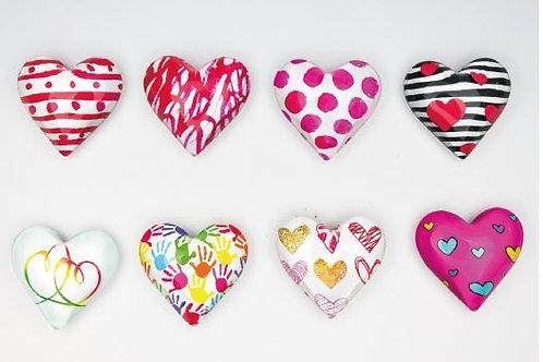 Magnete cuore 8 assortiti bomboniere Cresima Comunione