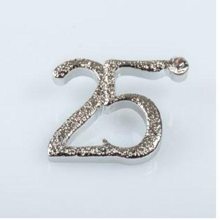 Applicazione anniversario matrimonio 25° silver