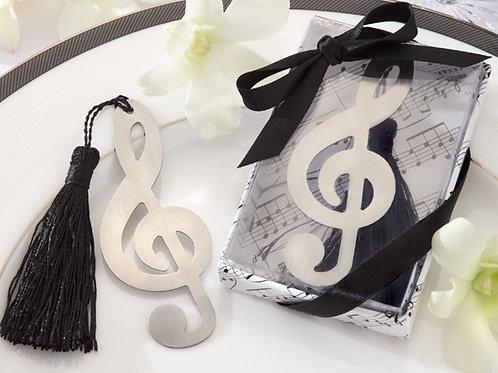 Segnalibro nota musicale con nappina e scatolina