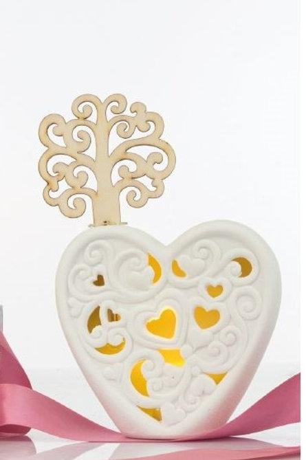 Profumatore led cuore albero bomboniere matrimonio