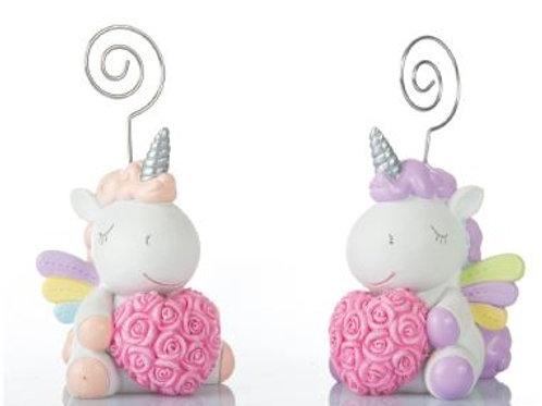 Unicorno rosa clip 11cm 2 assortiti Bomboniere Nascita Battesimo