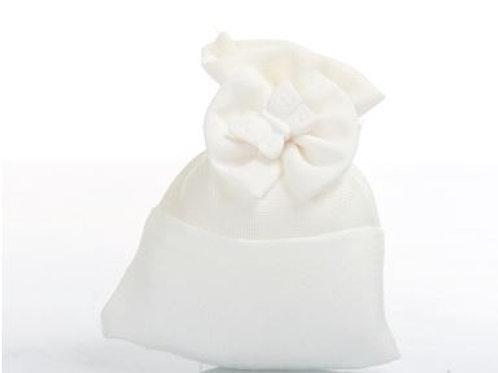 Sacco piatto bianco fiocco